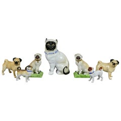 Collection Of Forty Two-Pottery And Porcelain Pug Dogs