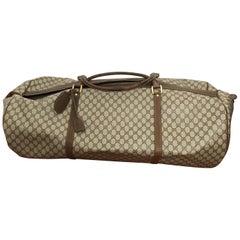 Huge Vintage Gucci Monogram Duffel Bag