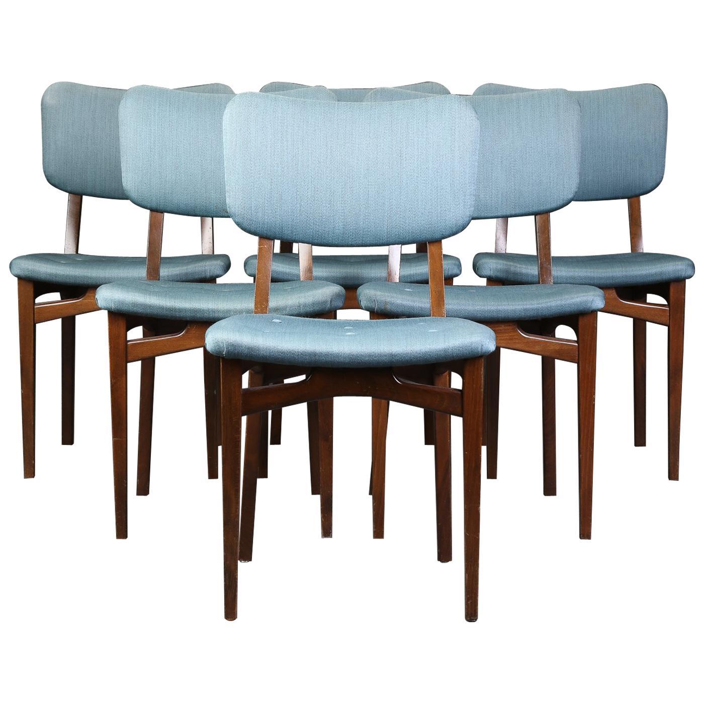 Set of Six Midcentury Danish Dining Chairs