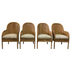 Vintage Henry Olko Set of 4 Bamboo Chairs