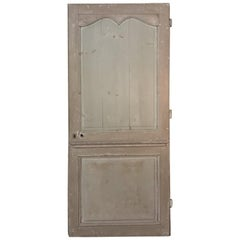 19th Century Painted Pine Interior Door