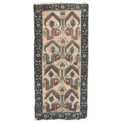 Wonderful Antique Tribal Collectible Kurdish Rug