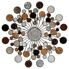 Expression Round Wall Sculpture with Natural Exotic Inlay