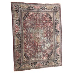 Large Antique Mahal Style Rug