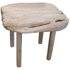 Andrianna Shamaris St. Barts Teak Wood Side Table