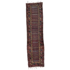 Very Beautiful Antique Kurdish Kazak Runner