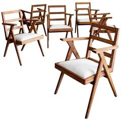 French Oak Dining Chairs