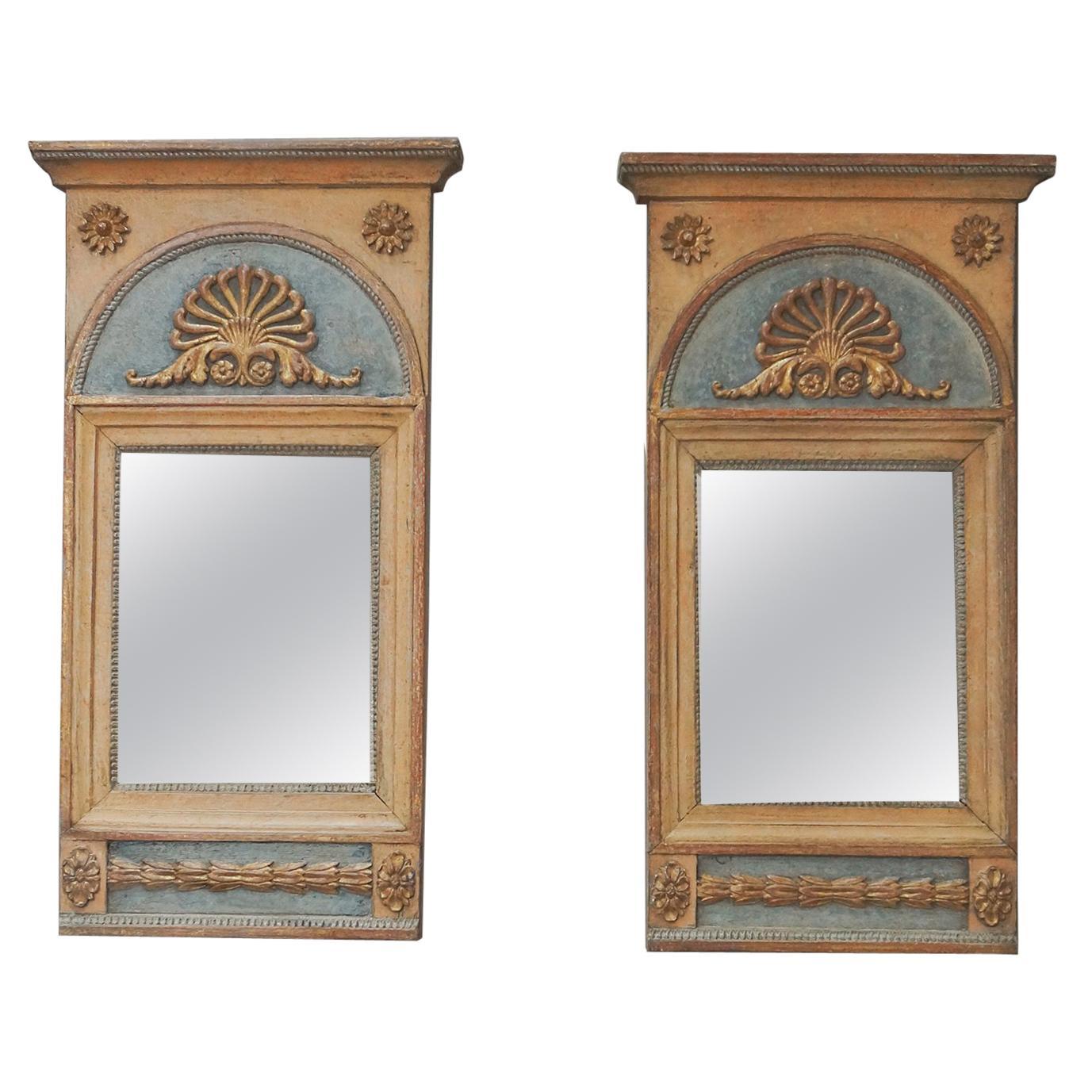 Pair of Period Gustavian Mirrors
