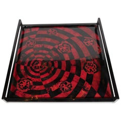 Organic Modern Mosaic Tray in Lacquered Pen Shell
