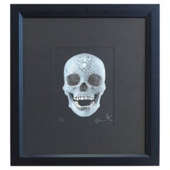 """Damien Hirst """"For the Love of God"""" Lithograph, Glazed & Diamond Dust, 479/1000"""