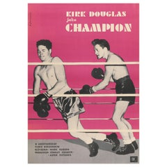 """Champion"" Original Vintage Movie Poster, Polish, 1961"