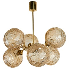 French Mid-Century Modern Atomic Sputnik Globe Chandelier