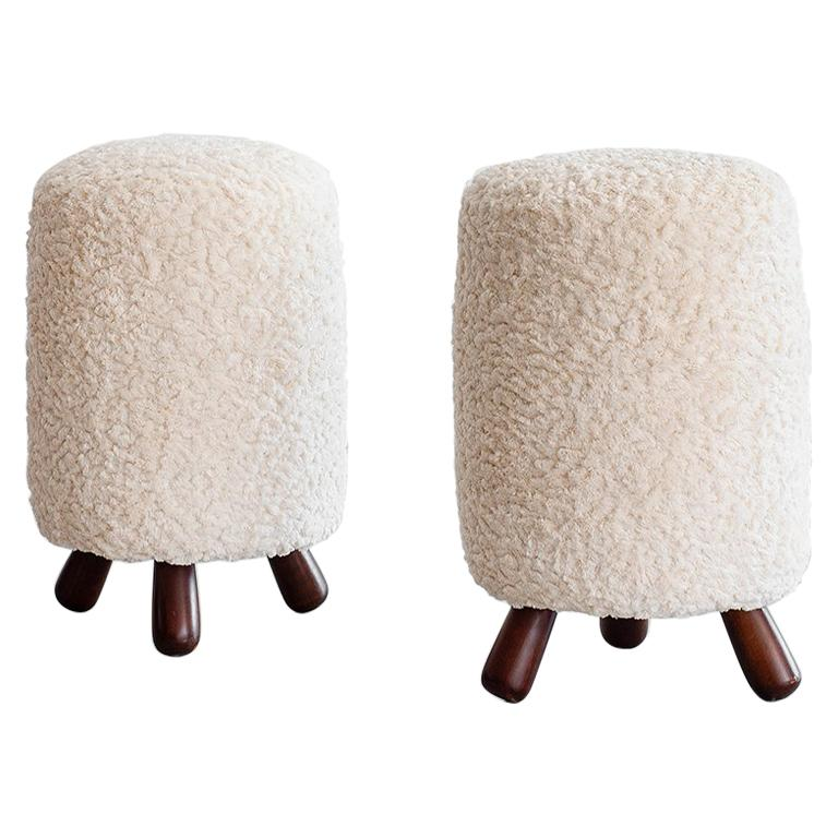Jean Royere Style Stools For Sale