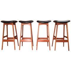 Danish Modern Bar Stools by Johannes Andersen