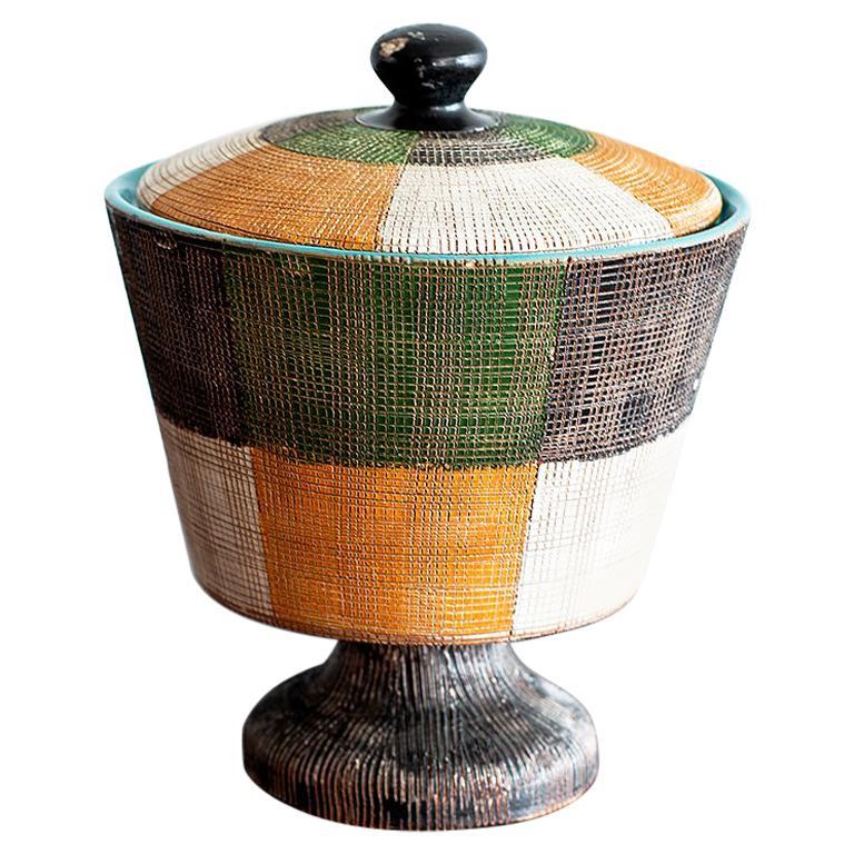 Italian Ceramic Jar by Bitossi For Sale