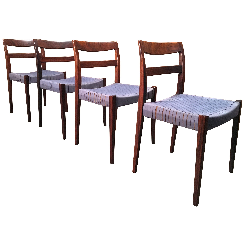 Scandinavian Modern Rosewood Dining Chairs