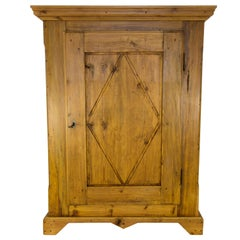 19th Century One-Door Baltic Pine Armoire