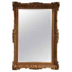 Grand Giltwood Mirror Having Ornate Details