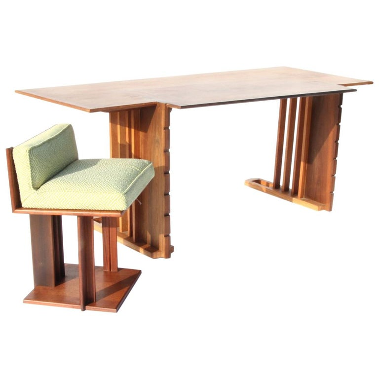 Rare 1947 Unison Desk and Chair by Frank Floyd Wright