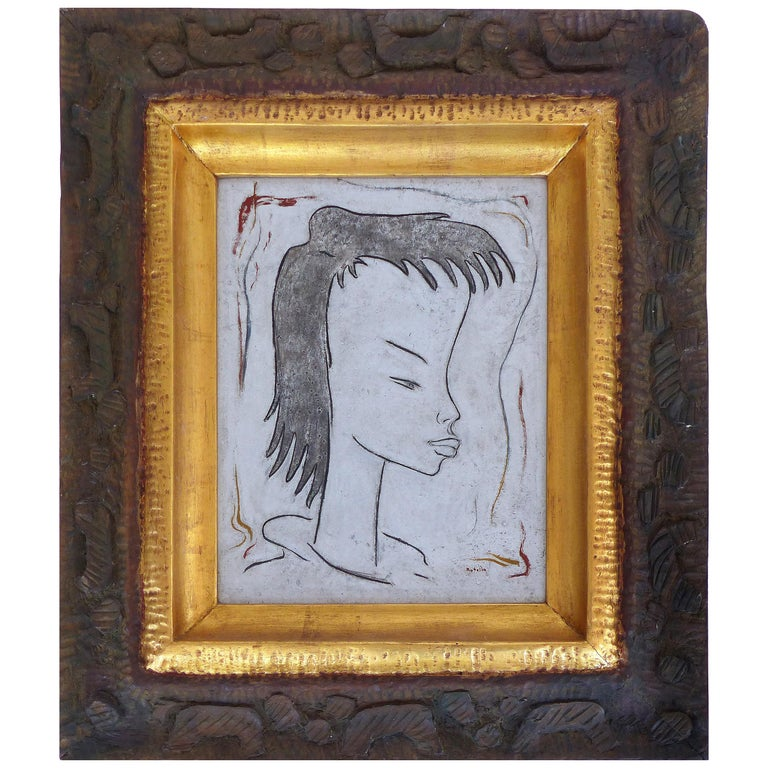 Angel Botello Abstract Oil Painting on Board, Latin Artist For Sale