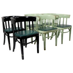 Set of 6 J J Kohn Mundus Cafe Dining Chairs