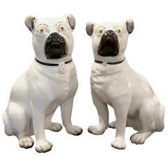 Pair of Staffordshire Pugs, Late 19th Century