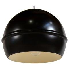 Set of 8 French 1960s Black Globe Pendants