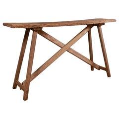 French Oak Trestle Table
