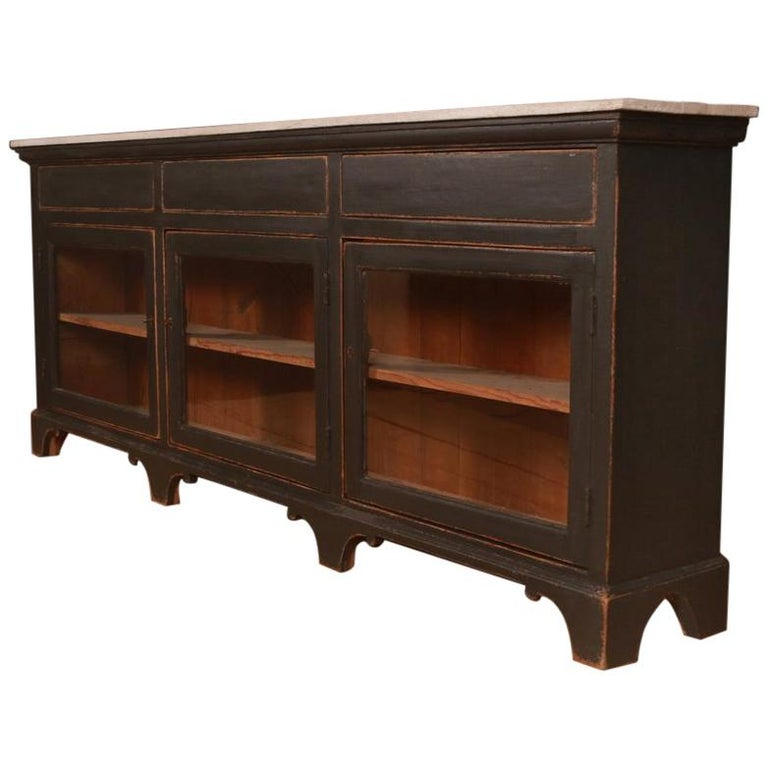 Narrow English Painted Sideboard For Sale