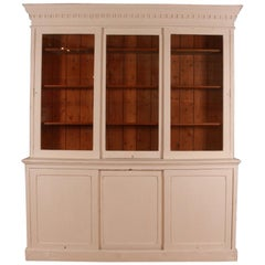 English Painted Bookcase or Dresser