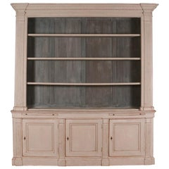 Architectural English Painted Bookcase
