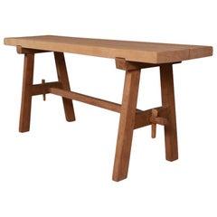 Primitive French Trestle Table