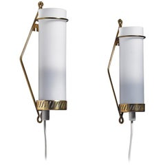Maria Lindeman Pair of Wall Lamps for Idman, Finland, 1950s