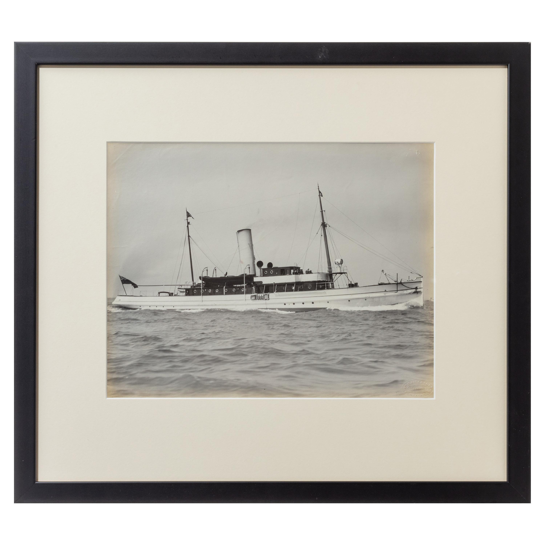 Original Gelatine Print of a Gentleman's Steam Yacht
