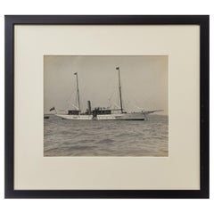 Gelatin Print of a Beautiful Gentleman Steam Yacht at Anchor by W Kirk