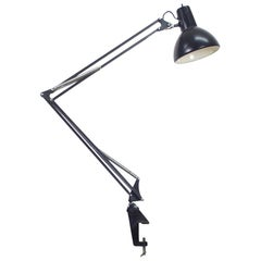 1960s Black Architect Table Mounting Lamp by Fase