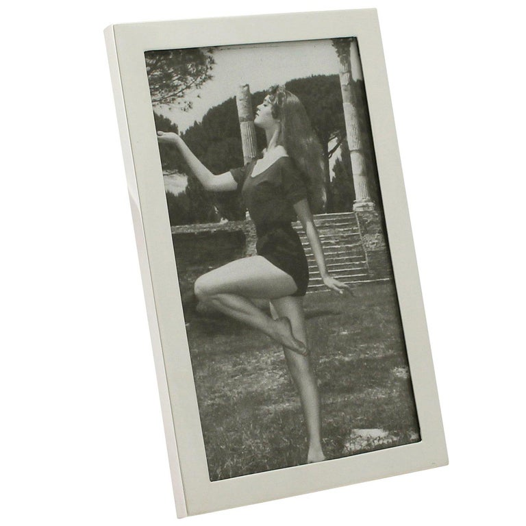 1960s English Sterling Silver Photograph Frame For Sale