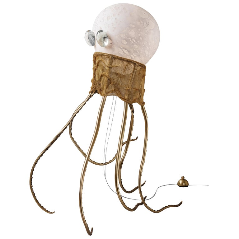Octopus, Unique Floor Lamp Sculpture, Ludovic Clément D'armont For Sale