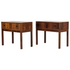 Pair of Midcentury Bedside Tables from Firma Glas & Trä