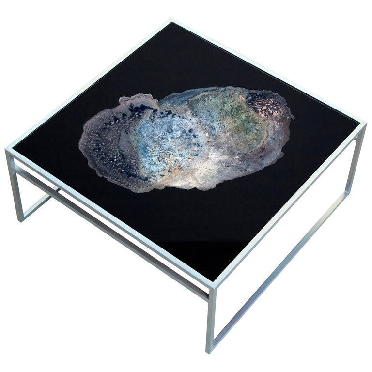 Stickley X Rockel Coffee Table - Metal and Glass - Art Piece For Sale