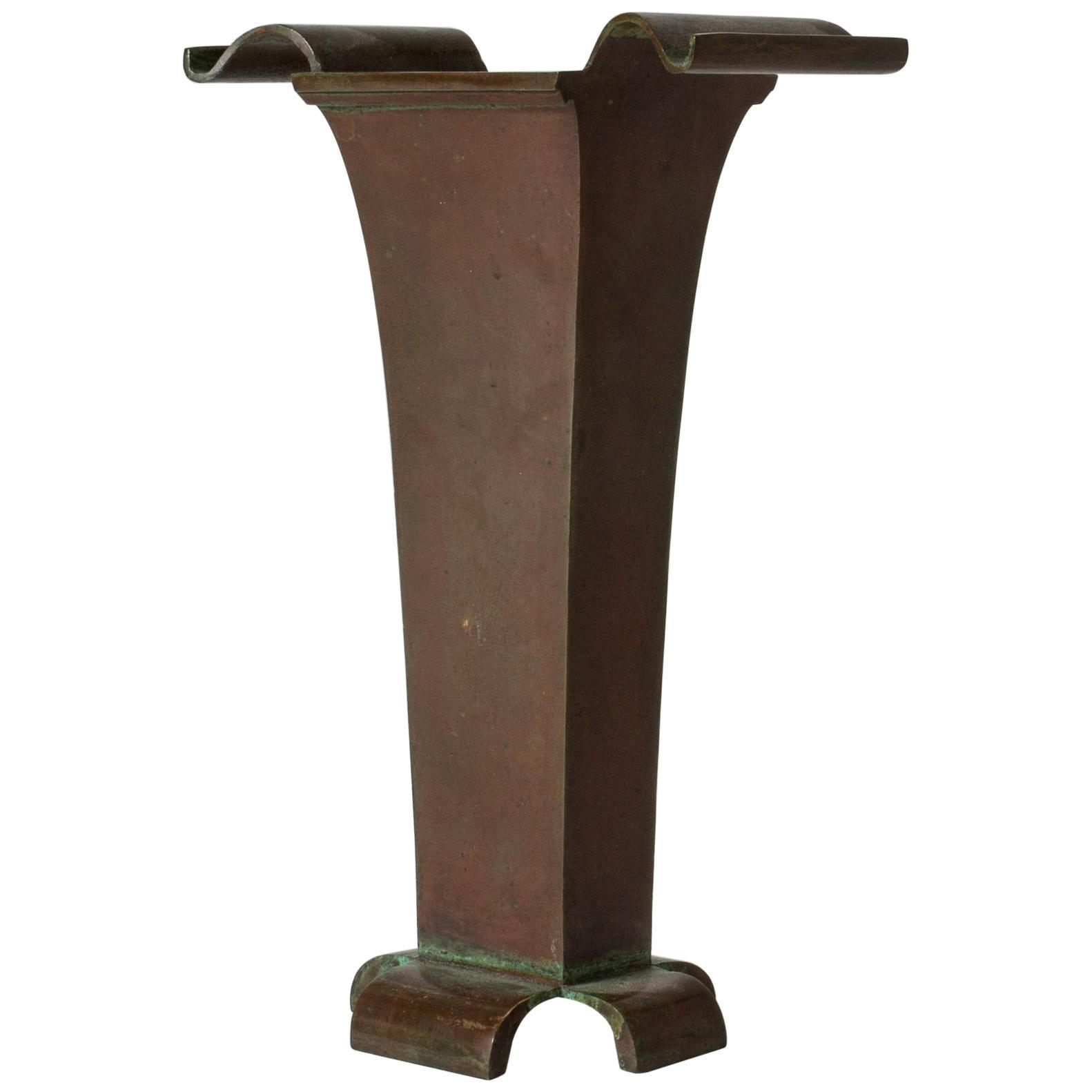 1930s Patinated Bronze Vase by Sune Bäckström