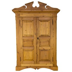 Country Style Baltic Pine Two-Door Armoire
