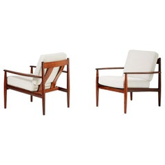 Grete Jalk Model 128 Rosewood Lounge Chairs