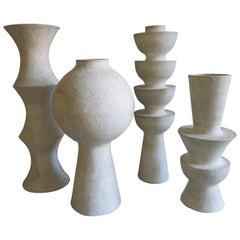 Ensemble of Four Ceramic Vases by John Born