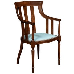 Edwardian Mahogany Inlaid Armchair