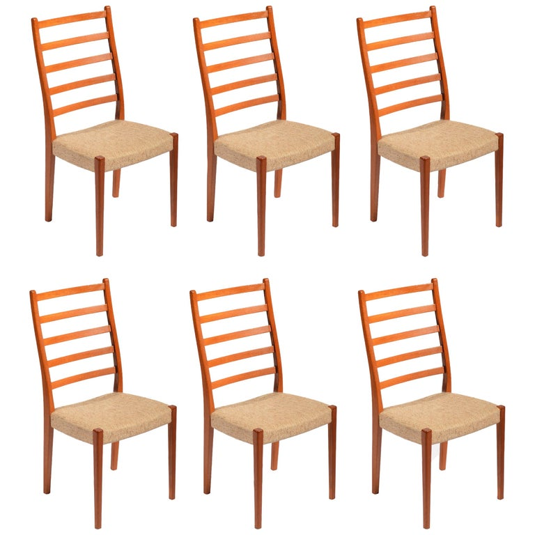 6 Teak Dining Chairs by Svegards Markaryd, Sweden For Sale