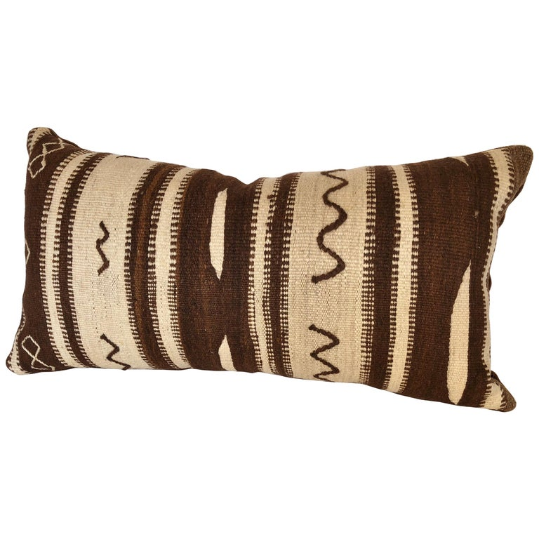Custom Pillow by Maison Suzanne from a Vintage Moroccan Wool Ourika Rug  For Sale