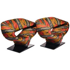 Vintage Ribbon Chairs by Pierre Paulin, Model F582 for Artifort
