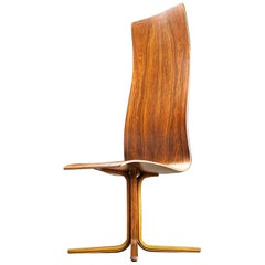 Arne Jacobsen High-Backed 'Oxford' Chair in Rosewood, 1965