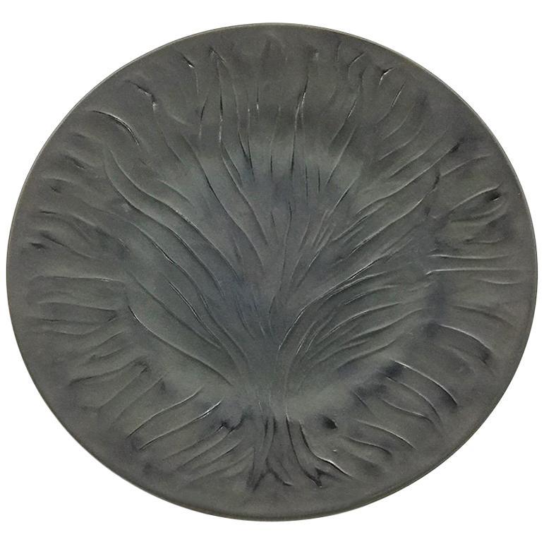 """Rene Lalique """"Algues Noir"""" , Tree of Live, Art Glass Plate"""